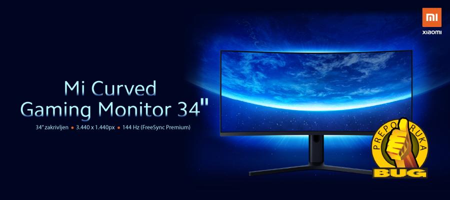 "XIAOMI Mi Curved Gaming Monitor 34"" osvojio BUG preporuku"
